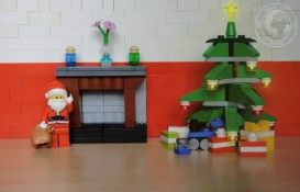 lego; minifigs; minifigure; photography; minifgure; worldofminifigs; world of minifigs; christmas; santa; chimney; twas night before