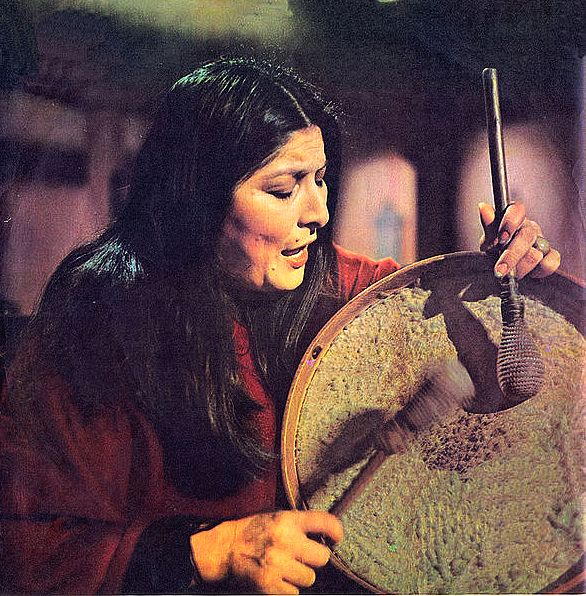 Mercedes Sosa, 1973 (photo property of public domain)