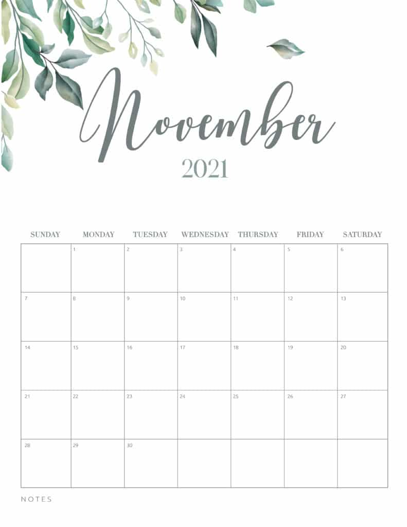 """The end of daylight savings time, so make sure you turn your clocks back an hour…in the fall season we """"fall back"""" one hour (sunday, … Free Printable 2021 Calendar Botanical Style - World of ..."""