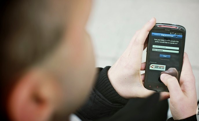 Mobile theft on police website