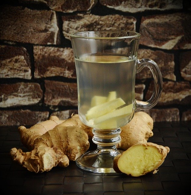 ginger tea in sore throat