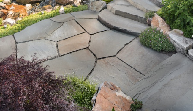 Flagstone Pavers - Best Natural Stone for Your Backyard ... on Flagstone Backyard Patio id=88340