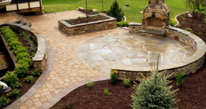 22 Best Natural Paving Stones Ideas for Patio Designs in 2019 on Garden Patio Designs And Layouts id=75645