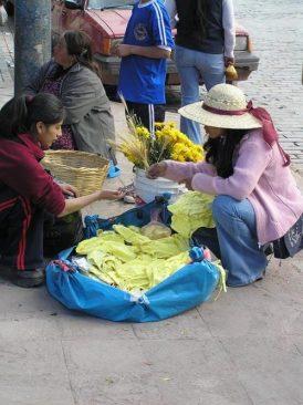 Underwear being sold on the street
