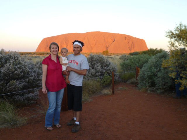 Visiting Uluru with our Little Miss at 1 year old.