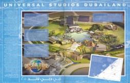 Universal Studios Dubailand's park layout.