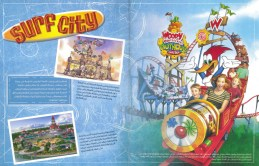 Concept art for Surf City, the park's family section.