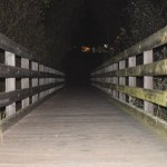 Bridge over a stream at night12