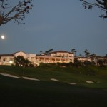 Moonrise over a golf course12