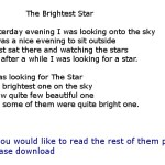 The Brightest Star_new