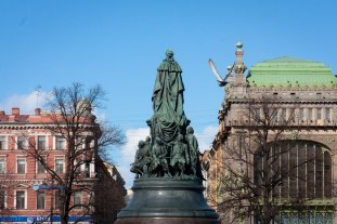 Monument of Catherine the Great, St. Petersburg, Russia