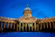 Kazan Cathedral on Nevsky Prospect in St. Petersburg, Russia.