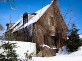 Hairy house in Suzdal, Western Russia