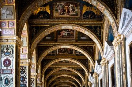 Ornate ceilings in Saint Petersburg's State Hermitage Museum