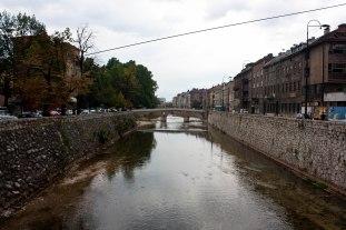 Bridge where Archduke Franz Ferdinand was assassinated in Bosnia.