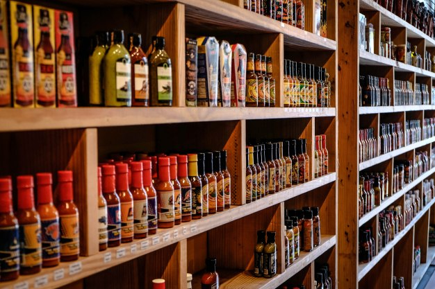 The Pepper Palace in New Orleans' French Quarter has thousands of varieties of hot sauces!