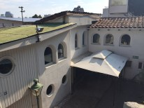 View from the second floor overlooking the courtyard