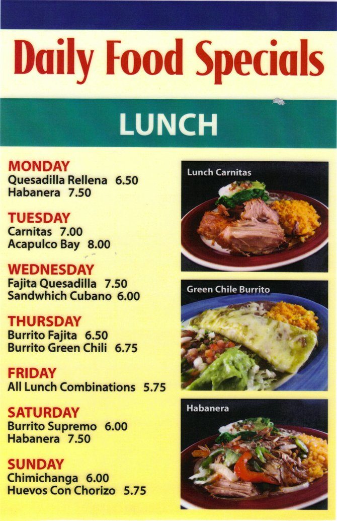 Lunch Specials Lawrence Ks