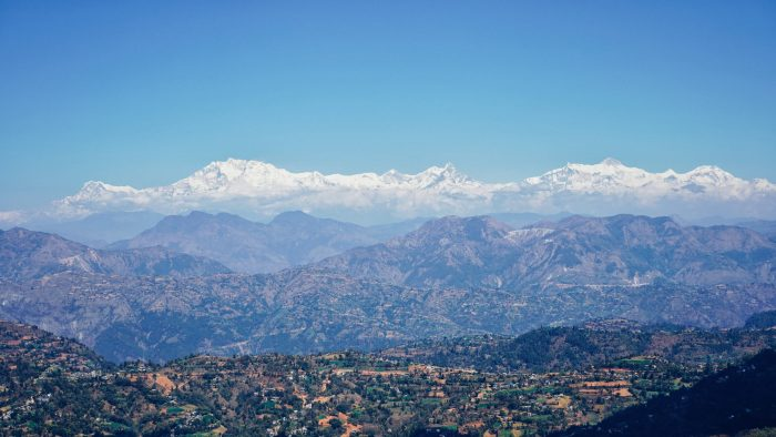 Views of the Himalayas from Tansen Nepal