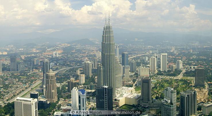 KL skyline with Petronas towers
