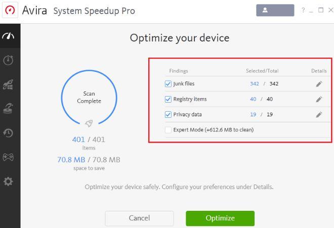 Avira System Speedup Pro 6