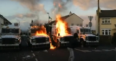 attack with petrol bombs and stones