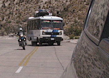 Overtaking Bolivian Bus