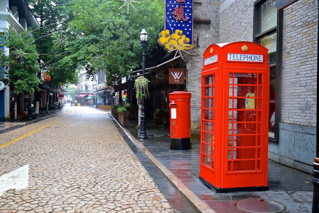 British telephone booth in Ningbo China
