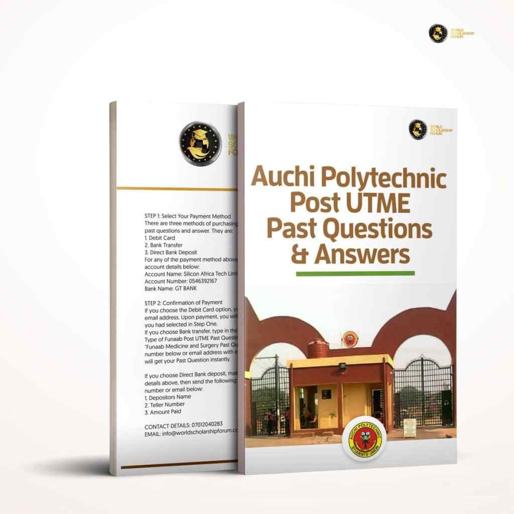 Auchi Polytechnic Post UTME Preguntas y respuestas anteriores