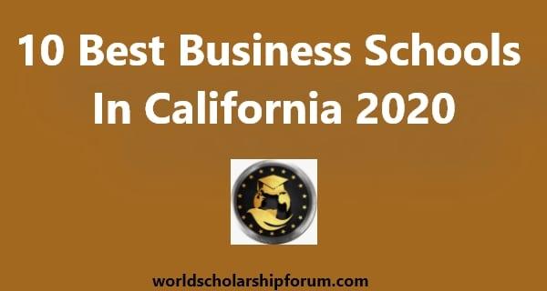best business schools in california