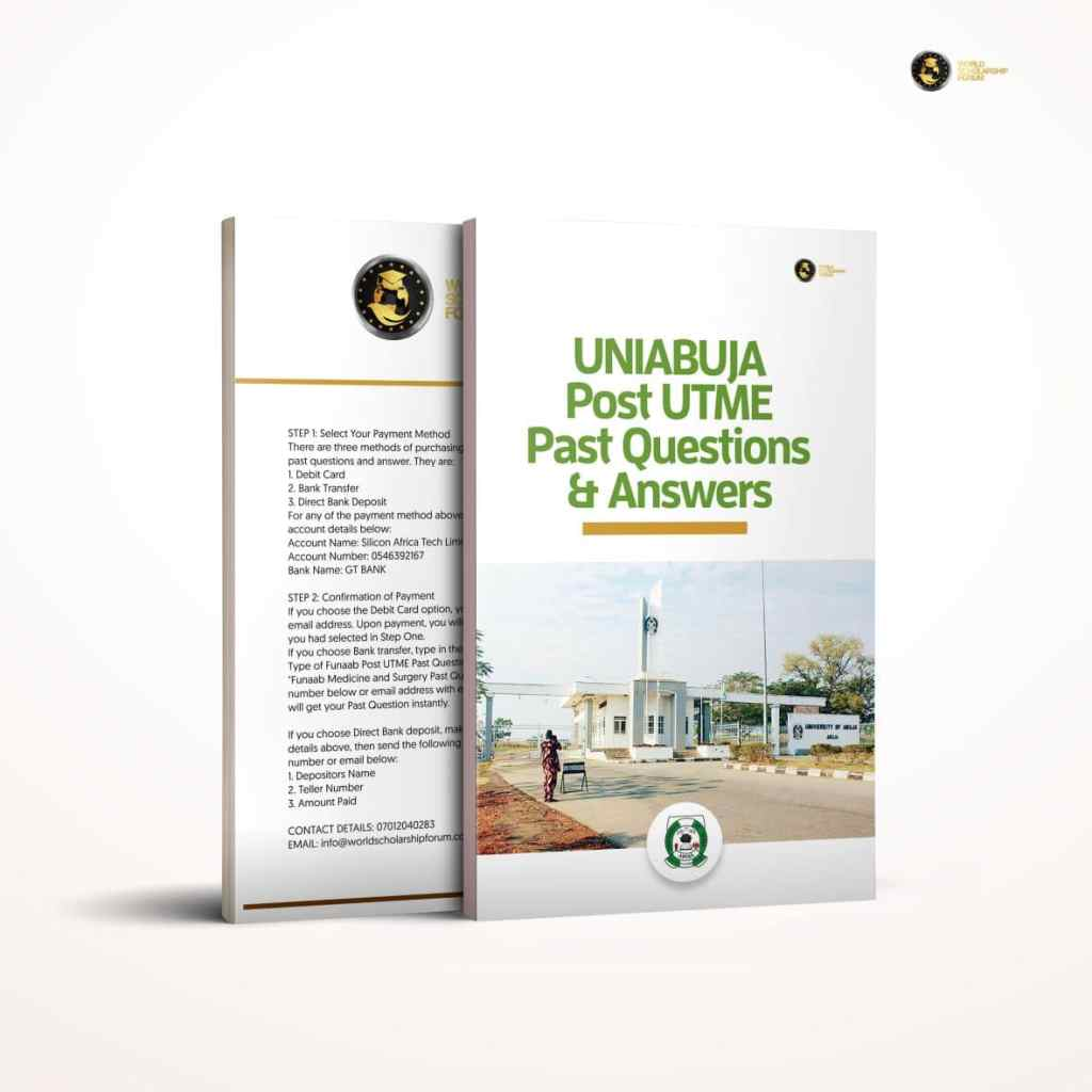 UNIABUJA Post Utme Past Question & Answers
