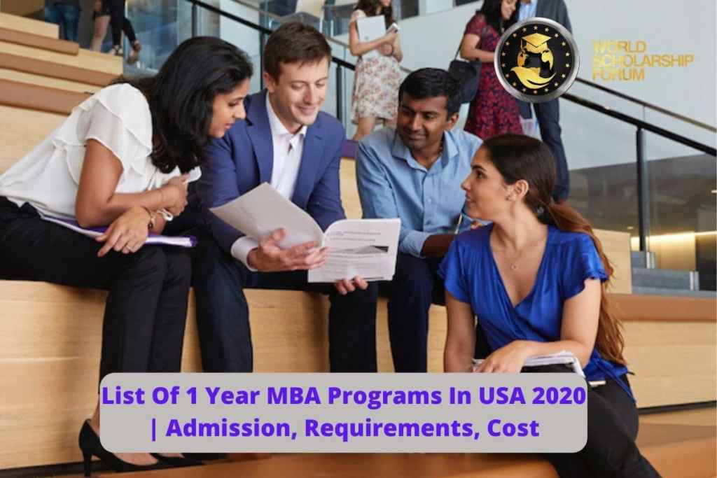 List Of 1 Year MBA Programs In USA 2020