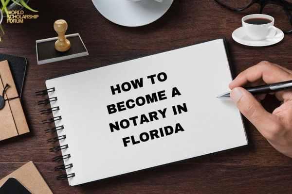 Cómo convertirse en notario en Florida