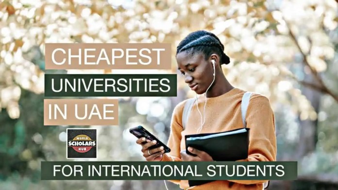 Cheapest Universities in the UAE for International Students