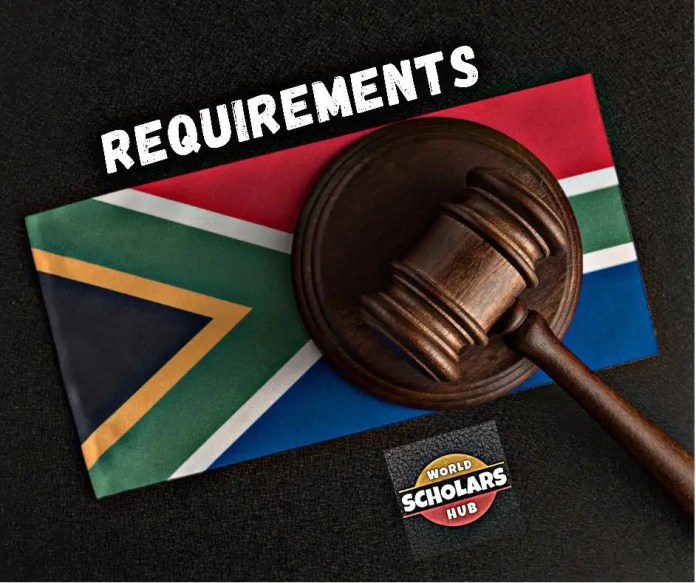 Requirements to Study Law in South Africa
