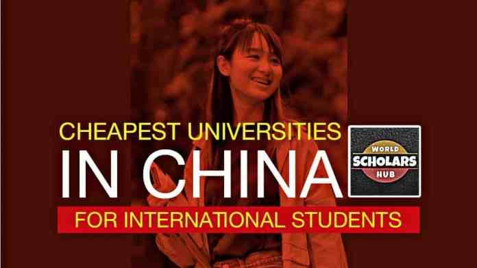 Cheapest Universities in China