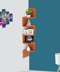 A c i t r ve n i e h anc. Acco Deco Zigzag Corner Wall Mount Shelf Teak Natural Design Your Day