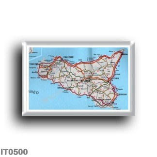 IT0500 Europe - Italy - Sicily - Map of Sicily