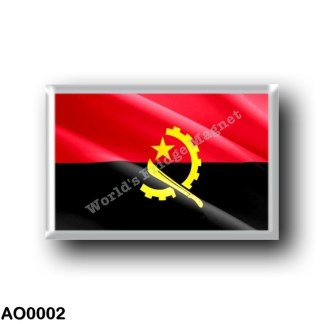 AO0002 Africa - Angola - Angolan flag - Waving