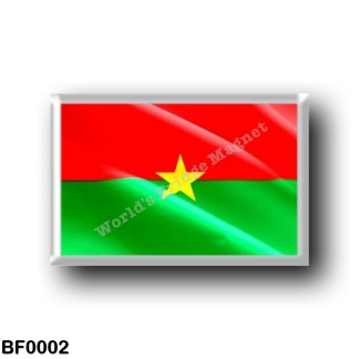 BF0002 Africa - Burkina Faso - Flag Waving