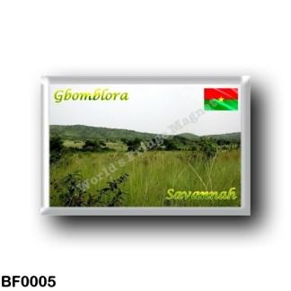 BF0005 Africa - Burkina Faso - Gbomblora - Savannah