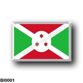 BI0001 Africa - Burundi - Flag