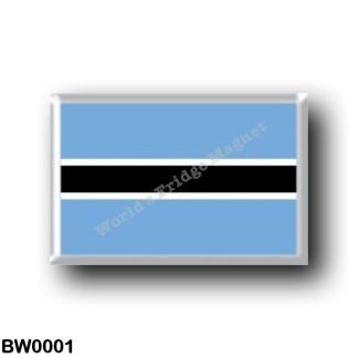 BW0001 Africa - Botswana - Flag