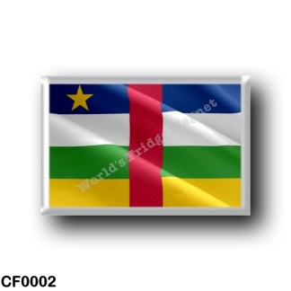 CF0002 Africa - Central African Republic - Flag Waving