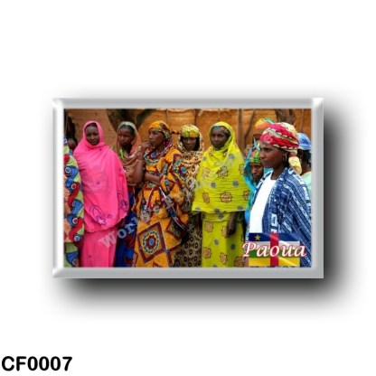 CF0007 Africa - Central African Republic - Paoua - Les femmes