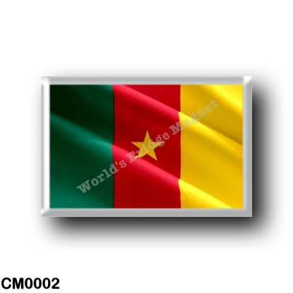 CM0002 Africa - Cameroon - Cameroonian Flag - Waving