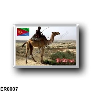ER0007 Africa - Eritrea - Camel and Rider