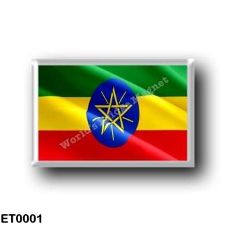 ET0001 Africa - Ethiopia - Ethiopian Flag - Waving