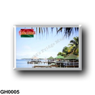 GH0005 Africa - Ghana - Tropical Resort - Coast of Ghana