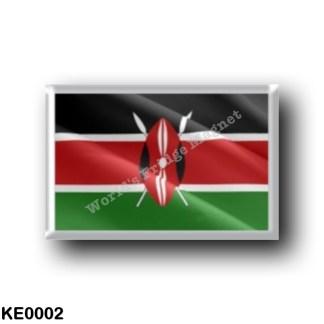 KE0002 Africa - Kenya - Keniota Flag - Waving